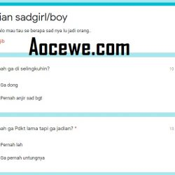 Link Ujian Sad Girl Google Form Terbaru 2020